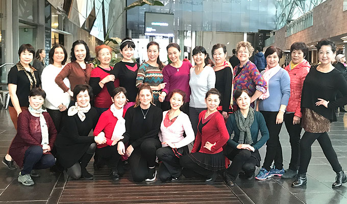 Chinese square dancing in Australia